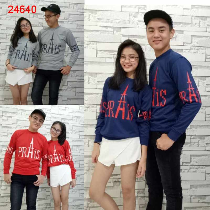 Jual Sweater Couple Sweater Paris Prais - 24640
