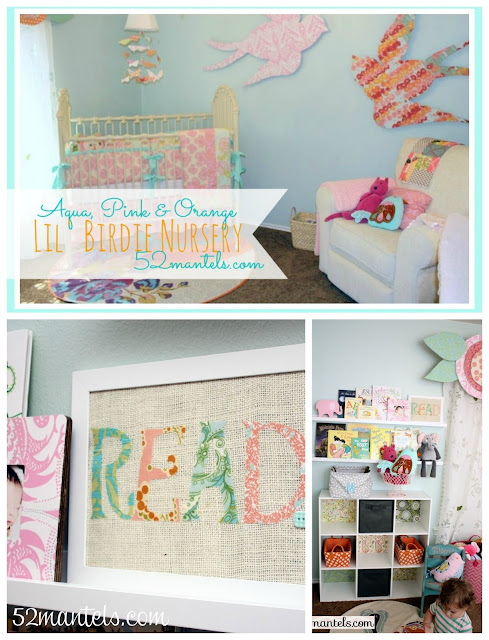 Aqua, Pink, & Orange Lil Birdie Nursery ideas!!