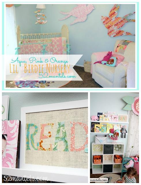 Aqua, Pink, & Orange Lil Birdie Nursery ideas!!