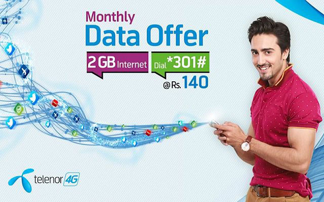 Telenor Monthly Data Bundle Enjoy 2GB Internet For Whole Month