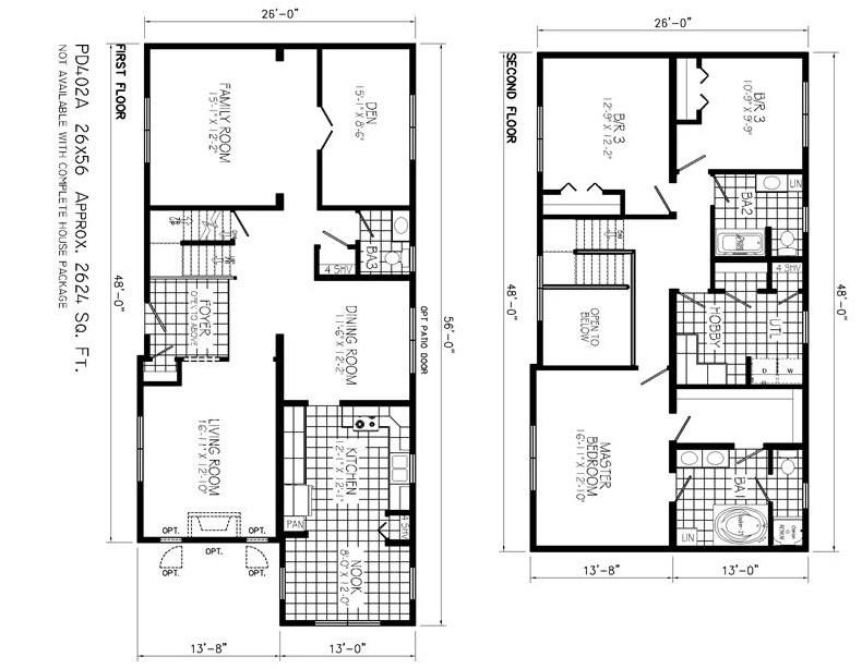 Kumpulan Ide Denah Rumah Minimalis 2 Lantai Modern 2019