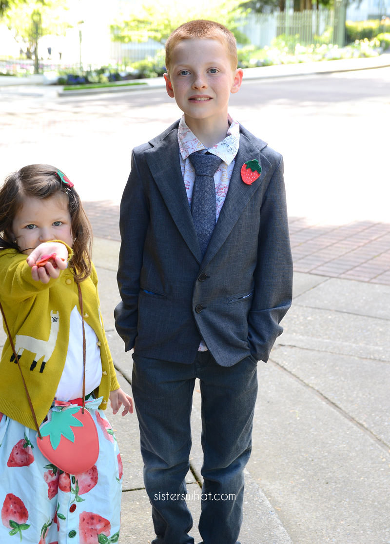 DIY little boy suit jacket
