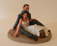 orme magiche modellini statuetta personalizzata cake topper artistico matrimonio
