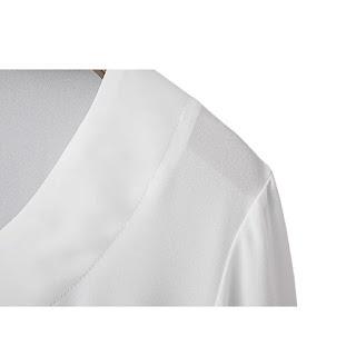 Blusa elegante con escote V y mangas anchas
