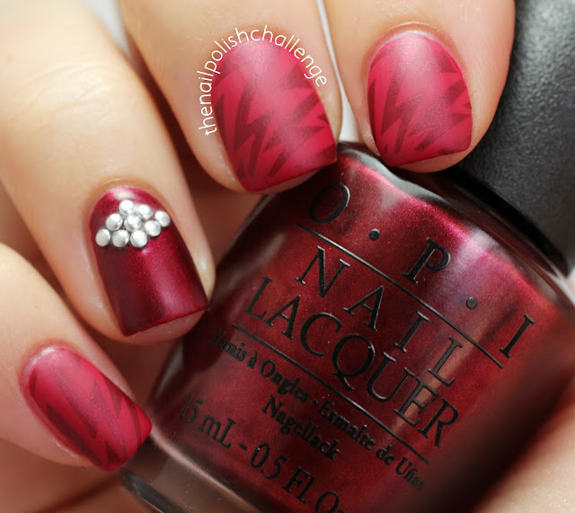 The Nail Polish Challenge: Stamping And Studs With OPI