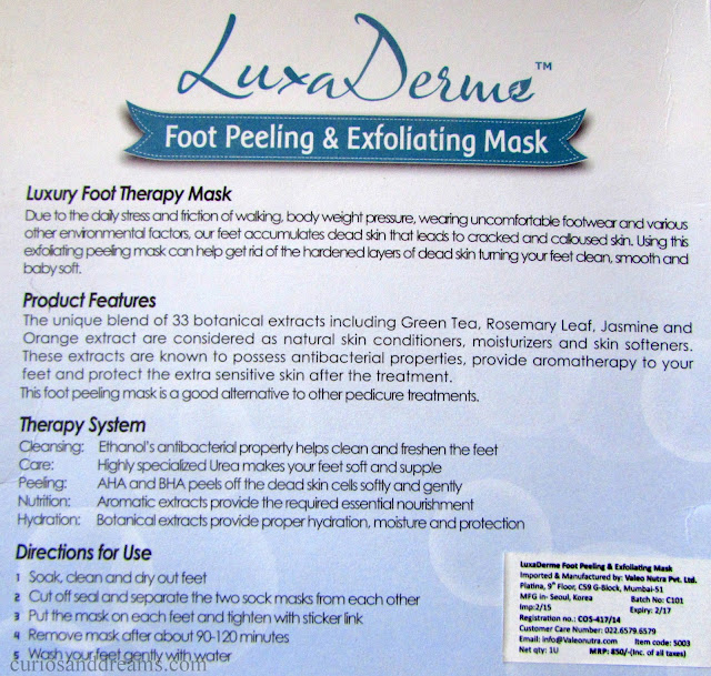 Luxa Derme Foot Peeling & Exfoliating Mask review