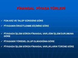 Finansal piyasa ve türleri