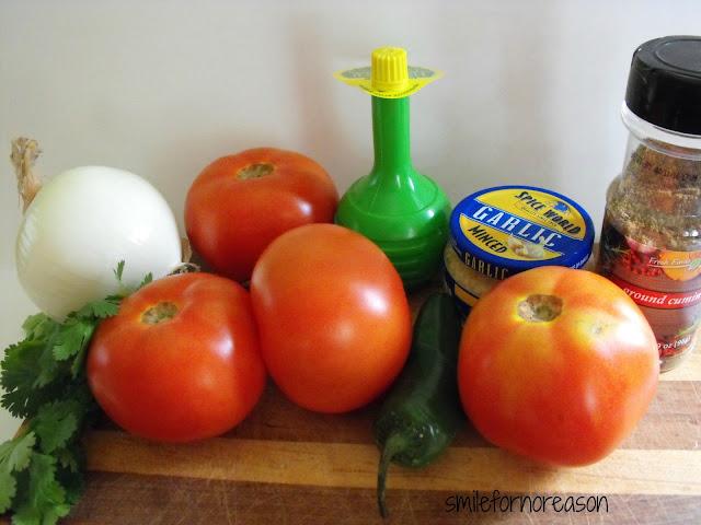fresh ingredient salsa