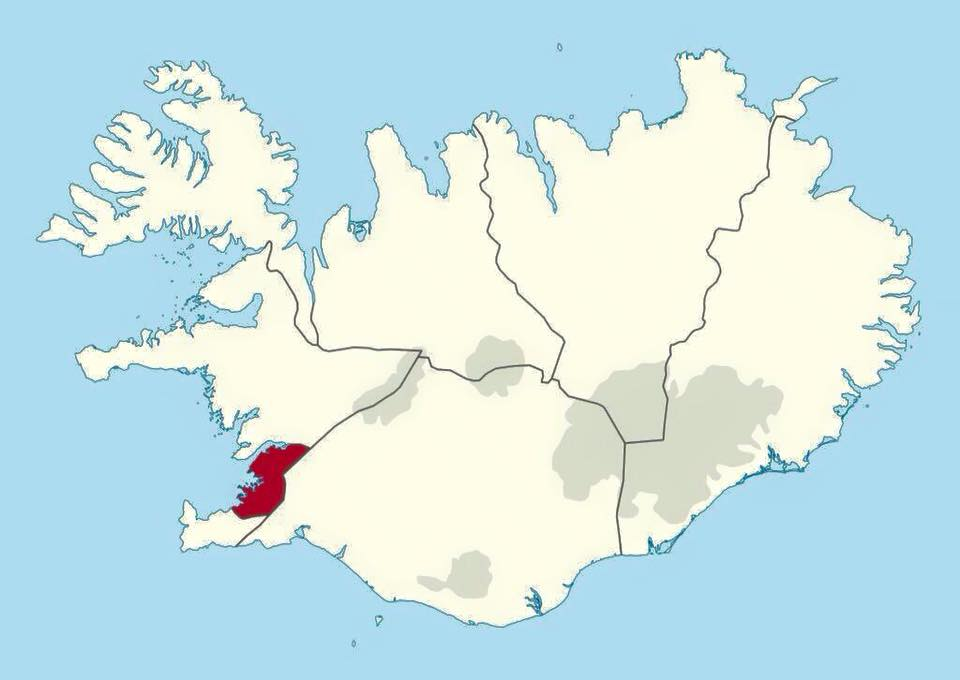 60% of the population of Iceland lives in this red area