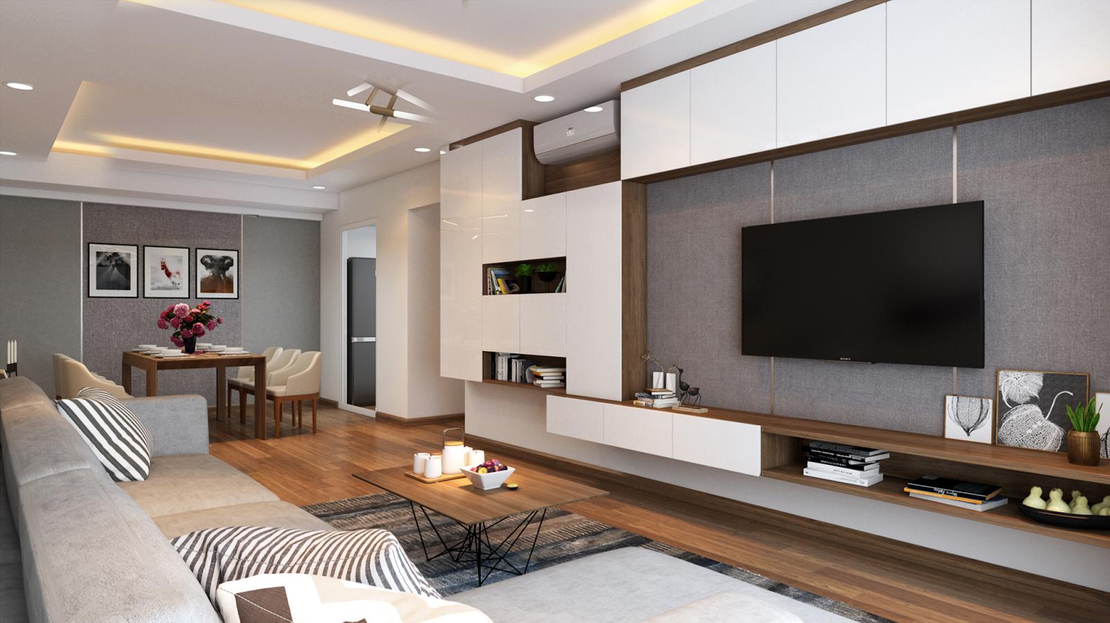 Phòng khách căn hộ mẫu chung cư Imperial Plaza