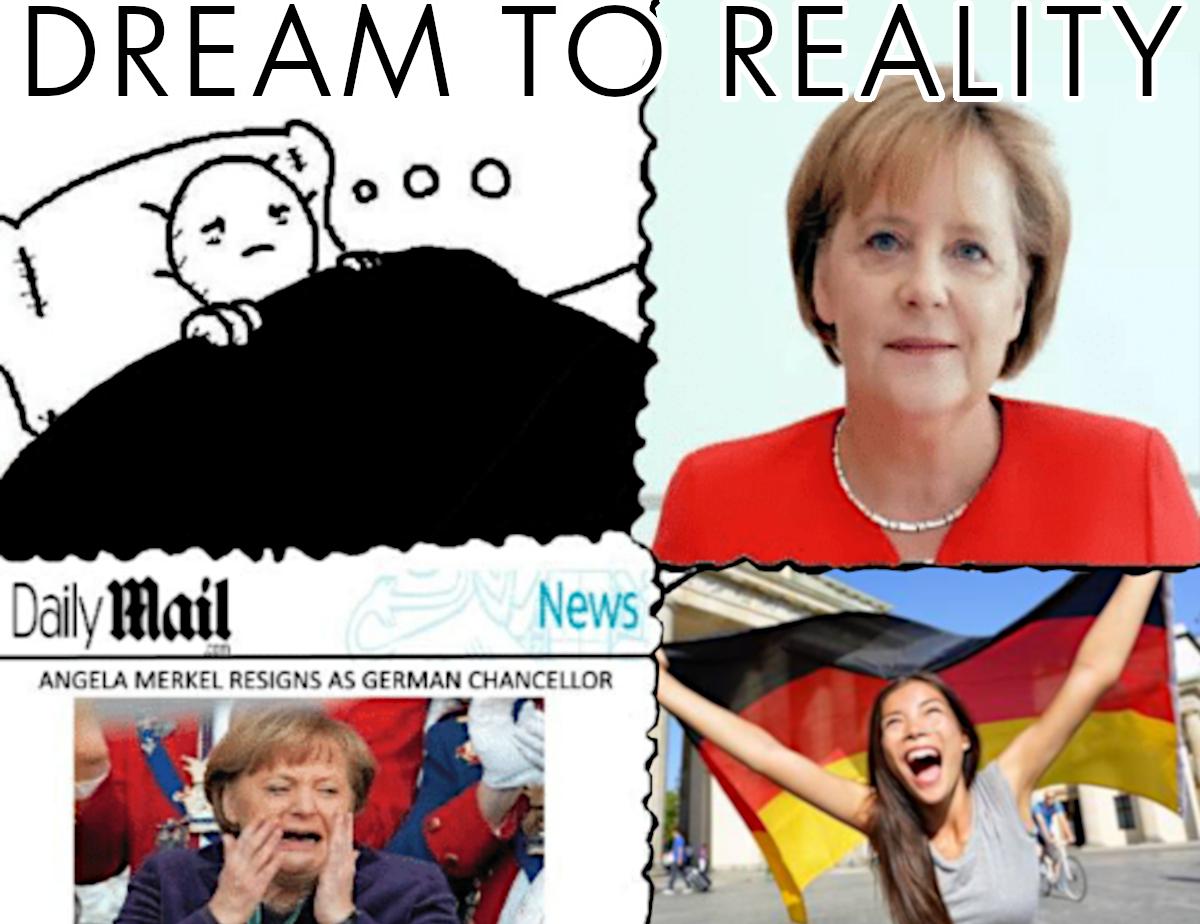angel merkel resigns german chancellor, germans celebrate meme