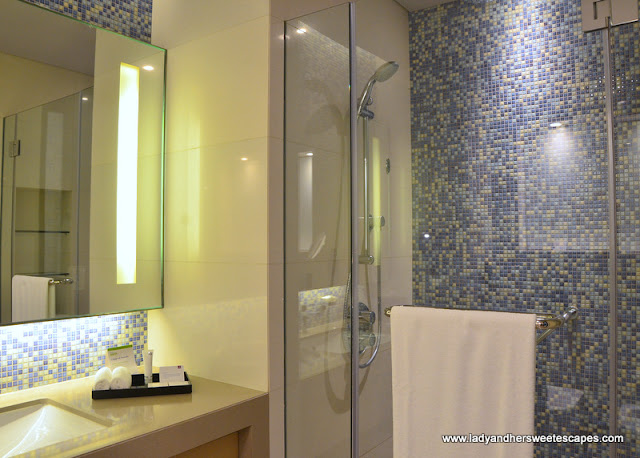 bathroom at Capital Centre Arjaan by Rotana