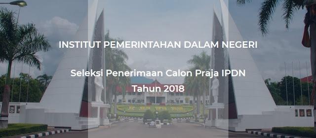 Jadwal Seleksi IPDN