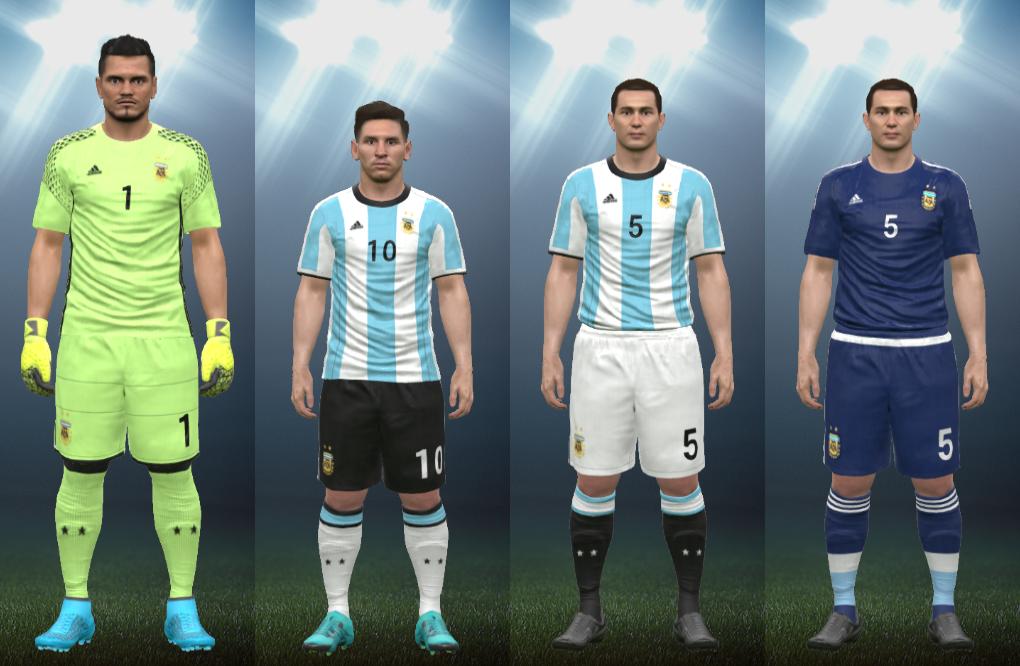 569504566 Wepes Sport  Uniforme Seleção Argentina 2016 - Pes 2016 (PC PS3)