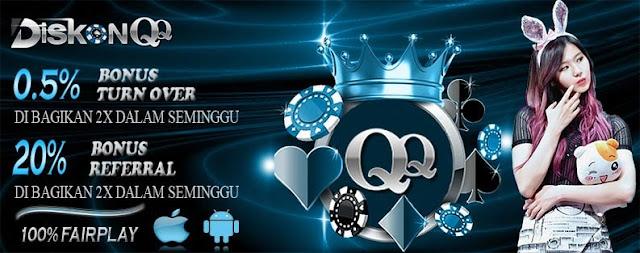 DiskonQQ Agen Poker DominoQQ Terpercaya