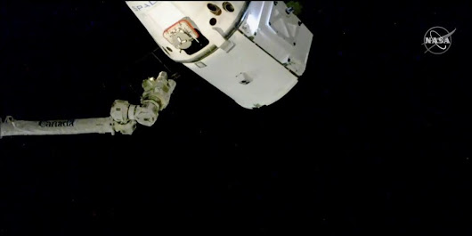 CRS-16 Dragon Spacecraft Arrives at ISS