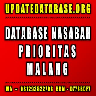Jual Database Nasabah Prioritas Malang