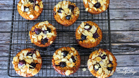 Delicious and healthy blueberry muffins