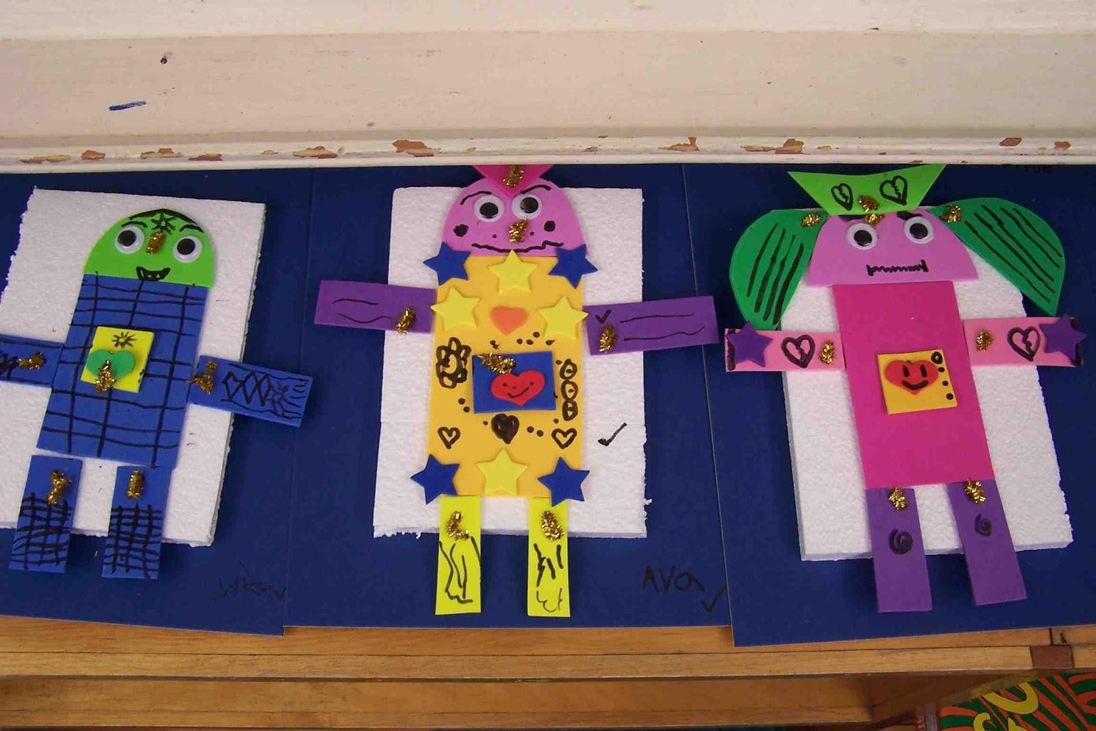 Create Art With Mrs P Kindergarten 2d Shape Robots