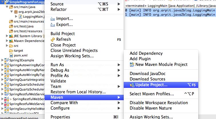 log4j properties file example - Java2Blog