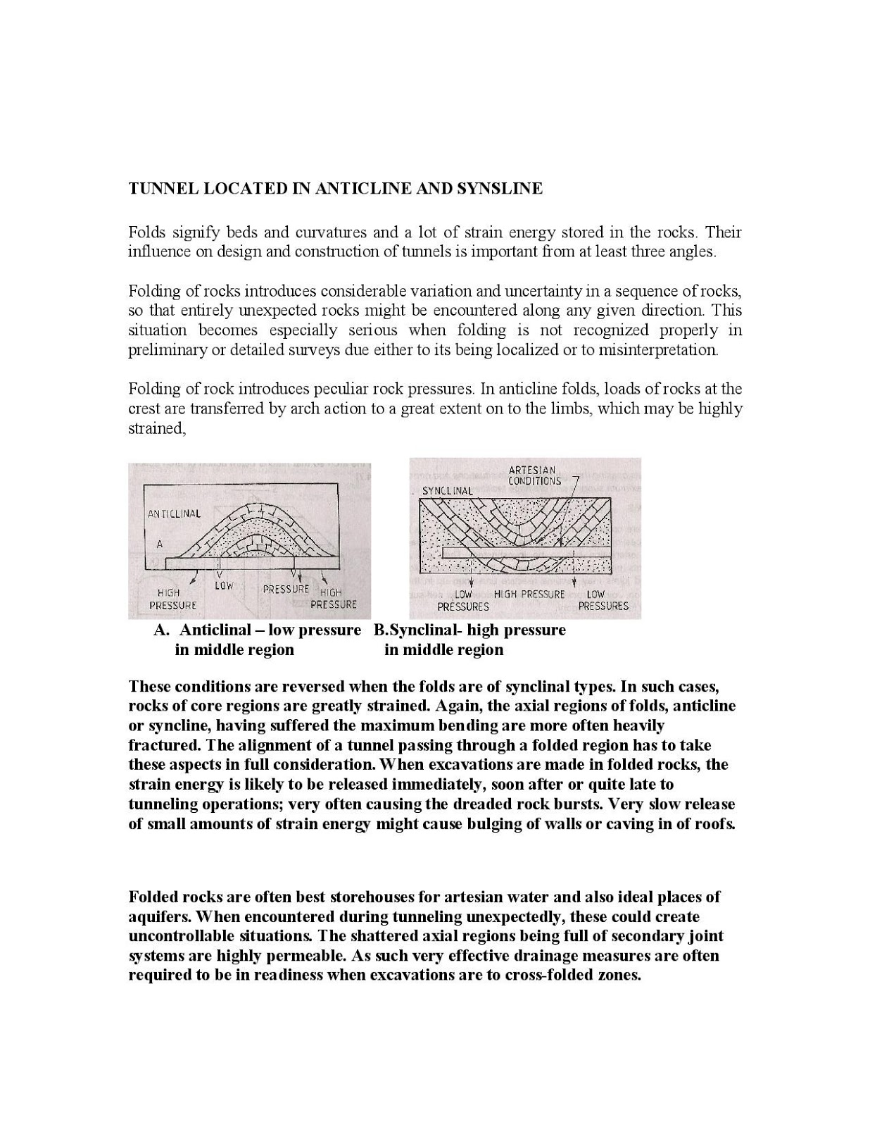 Engineering Blog: Applied Engineering Geology Lecture Notes (Unit 6)