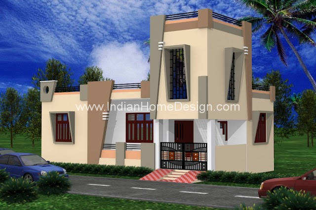 Udaipur style 1000 Sqft Contemporary House design | penting ayo di ...