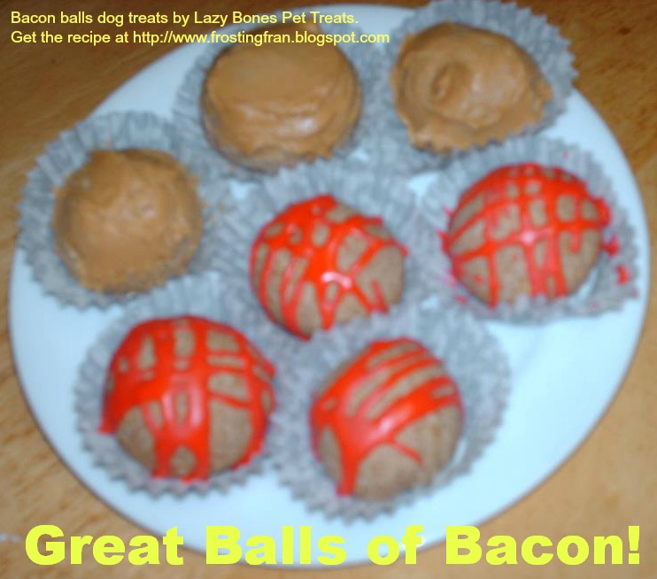 Frosting Fran Great Balls Of Bacon Bacon Grease Dog Treats