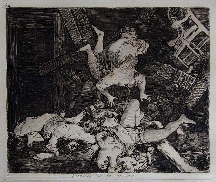 Lámina Los estragos de la Guerra de Francisco de Goya