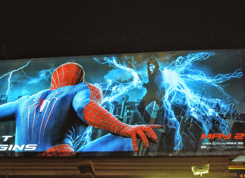 Amazing Spider-man 2 electroluminescent billboard night
