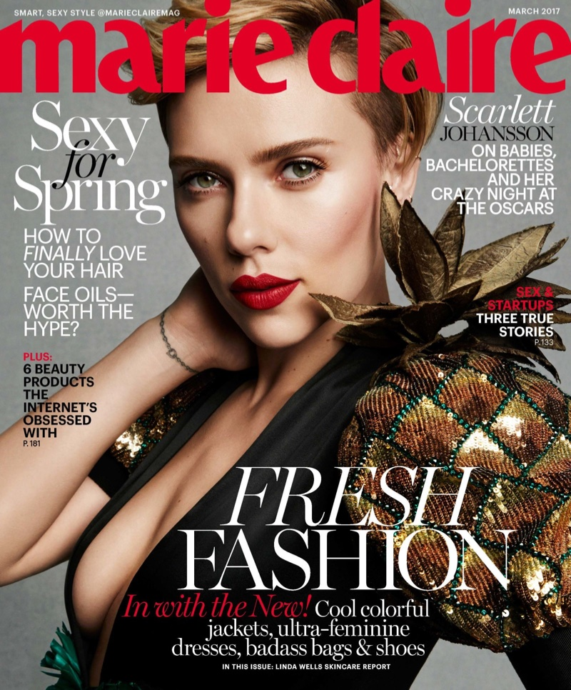 Scarlett Johansson on Marie Claire March 2017 Cover