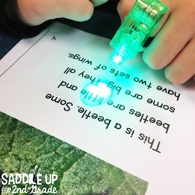 Finger light beams are the perfect tool to use during guided reading!