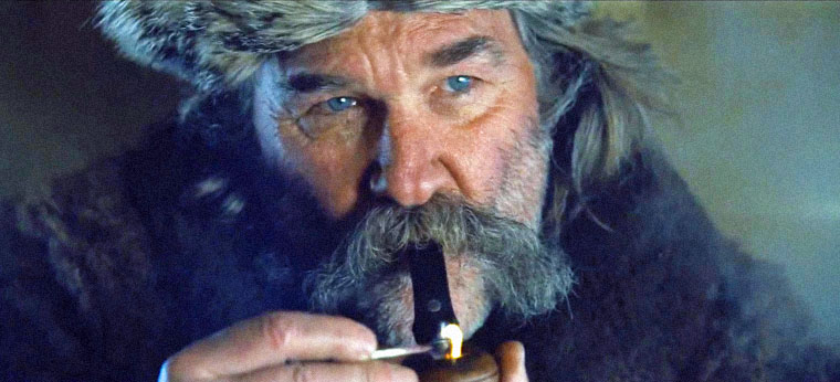 Kurt Russell in THE HATEFUL EIGHT (2015) von Quentin Tarantino. Quelle: US-Trailer (Miramax)
