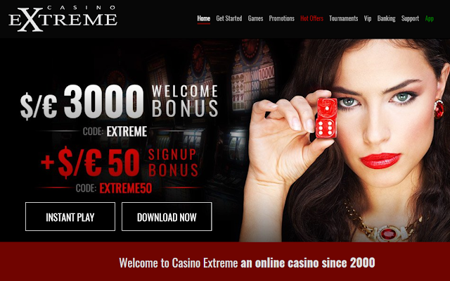 Casino Extreme Welcome offer