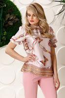 Bluza Pretty rose cu imprimeu