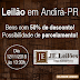 JE LEILÕES INFORMA: LEILÃO EM ANDIRÁ DIA 12/11.