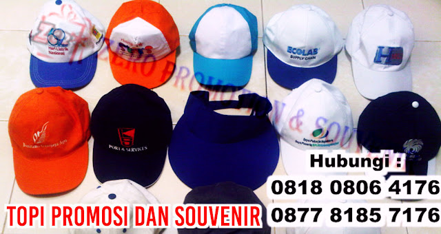 Menjual dan produksi (konveksi) topi promosi dan souvenir di Tangerang