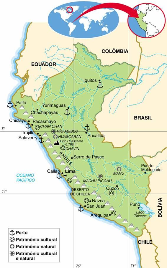 PERU, ASPECTOS GEOGRÁFICOS E SOCIOECONÔMICOS DO PERU