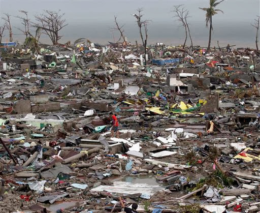 Ruined community due to Typhoon Yolanda