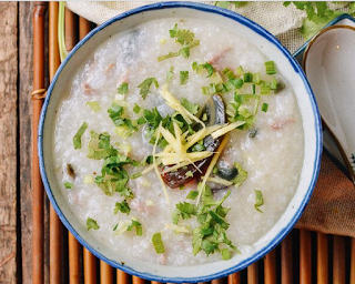 Congee with Pork and Thousand Year-Old Egg (皮蛋瘦肉粥)