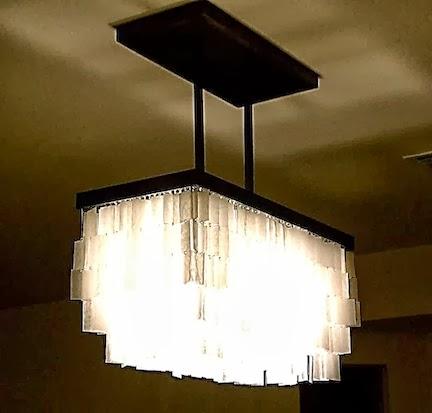 fabriquer un lustre capiz soi m me arda d co. Black Bedroom Furniture Sets. Home Design Ideas