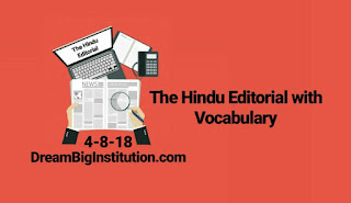 The Hindu Editorial With Important Vocabulary (4-8-18)