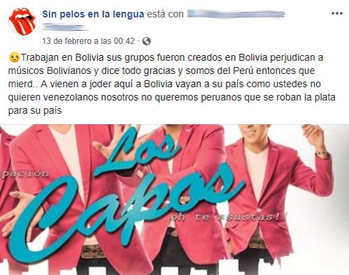 Grupo Los Capos radica en Bolivia