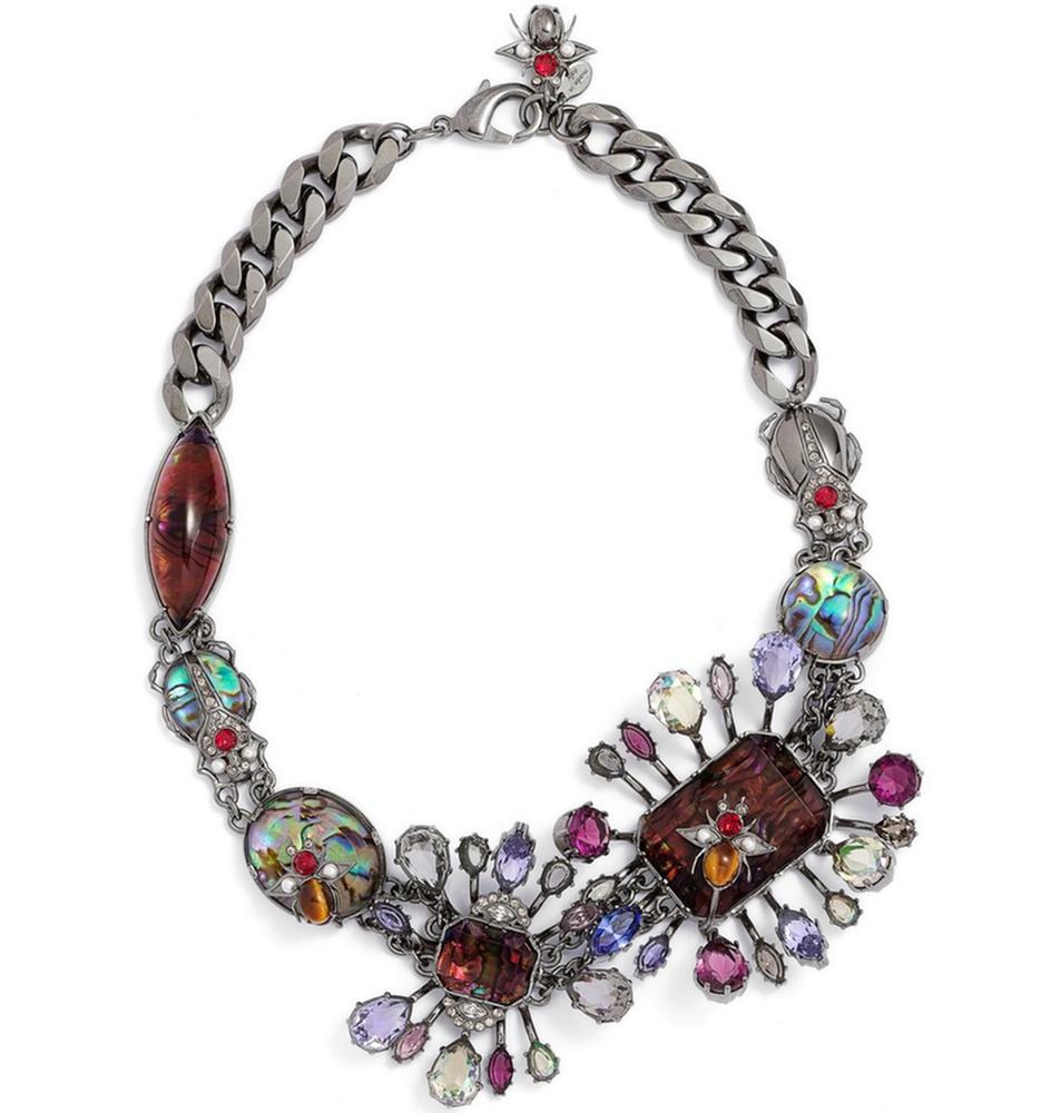 Alexander McQueen 'Flower Stone' Choker Necklace