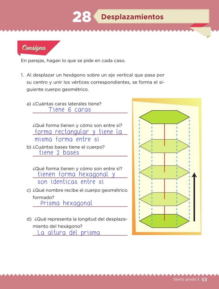 Libro de textoDesafíos MatemáticosDesplazamientosSexto gradoContestado