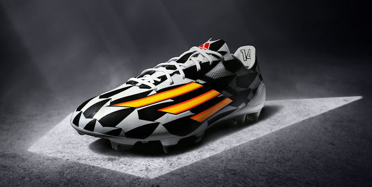 competitive price cef33 555e8 Like all other Adidas 2014 World Cup Football Boots (Battle Pack), the new Adidas  Adizero Boot comes with a geometrical upper design with the colors black ...
