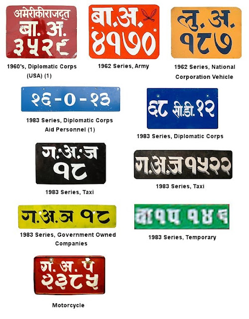 Vehicle Registration Plates of Nepal