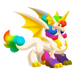 Appearance of Unicorn Dragon when adult