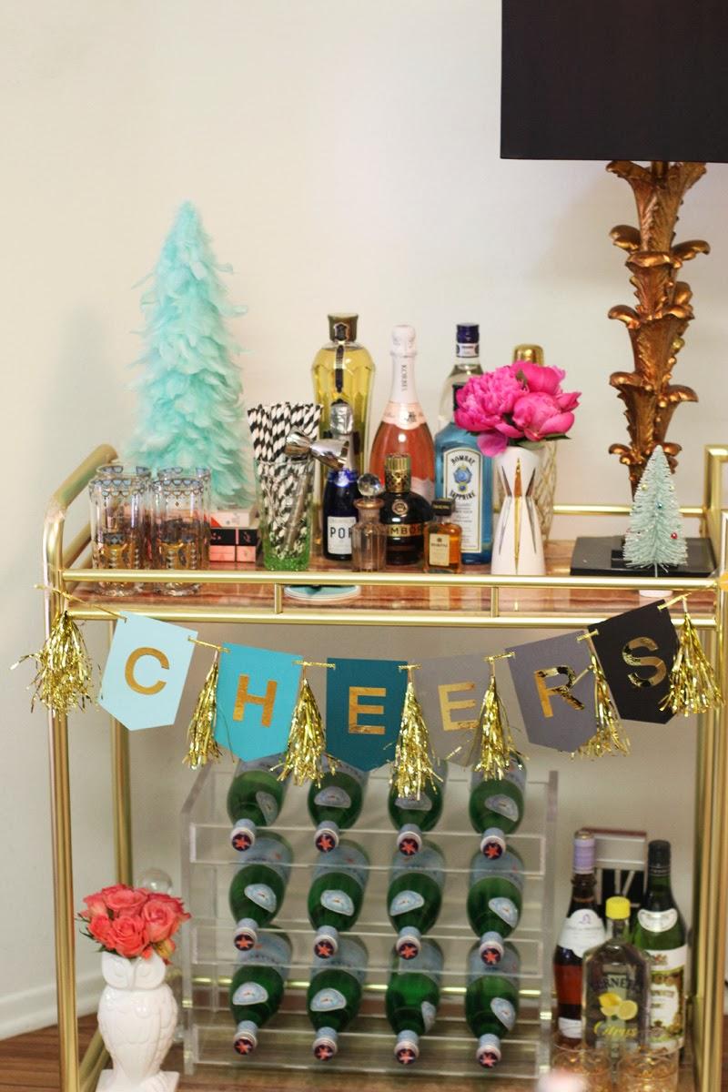 Devon rachel around my home retro glam holiday decor - How to decorate a bar ...
