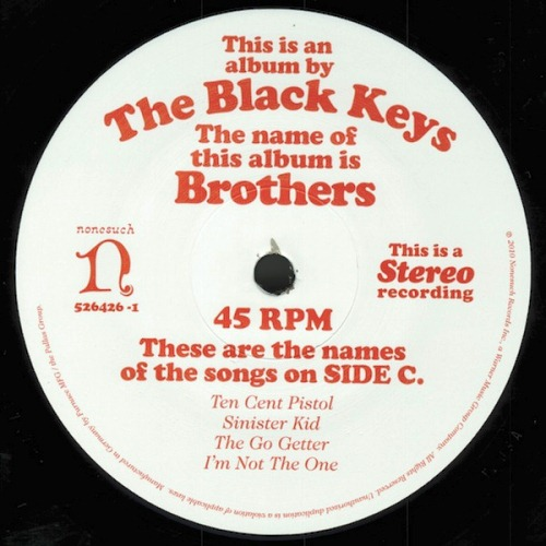 The Black Keys Brothers 2010 Record Store Day Black