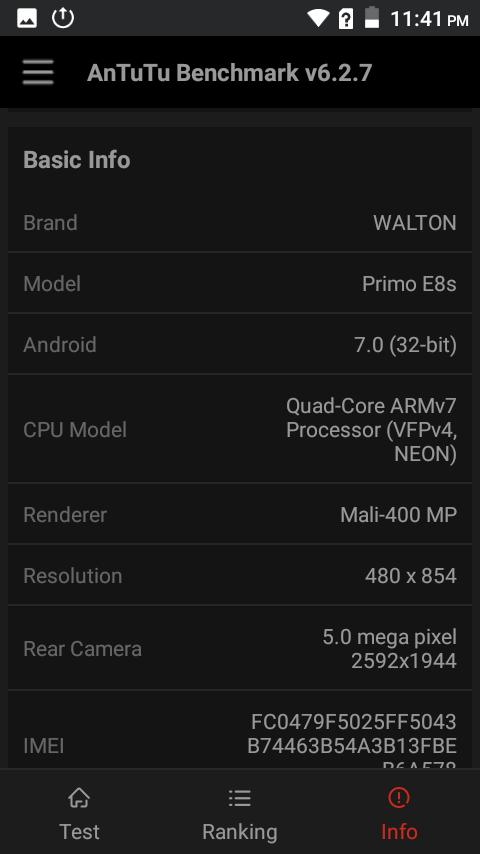 Primo E8s Chipset GPU দেশে তৈরি স্মার্টফোন Walton Primo E8s এর হ্যান্ডস-অন রিভিউ